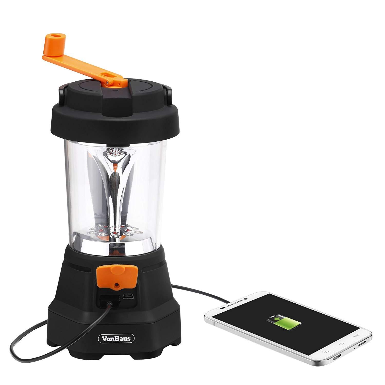 Wind Up Waterproof 4 LED Camping Lantern Light 723911