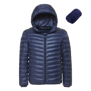 wholesale hot selling basic men's warm windproof light down jacket with hood