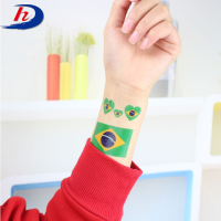 World Cup Fans National Country Mask Face Flag Temporary Tattoo Sticker