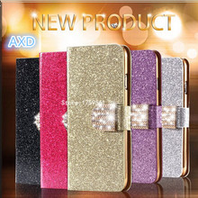 Luxury Glitter Diamond PU Wallet Leather Case For Nokia X2 Cover For Nokia X2 Flip Buckle Stand Card Holder