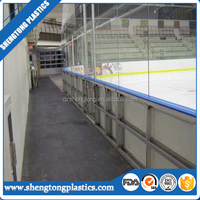 Ice skating rink barriers in shengtong plastics