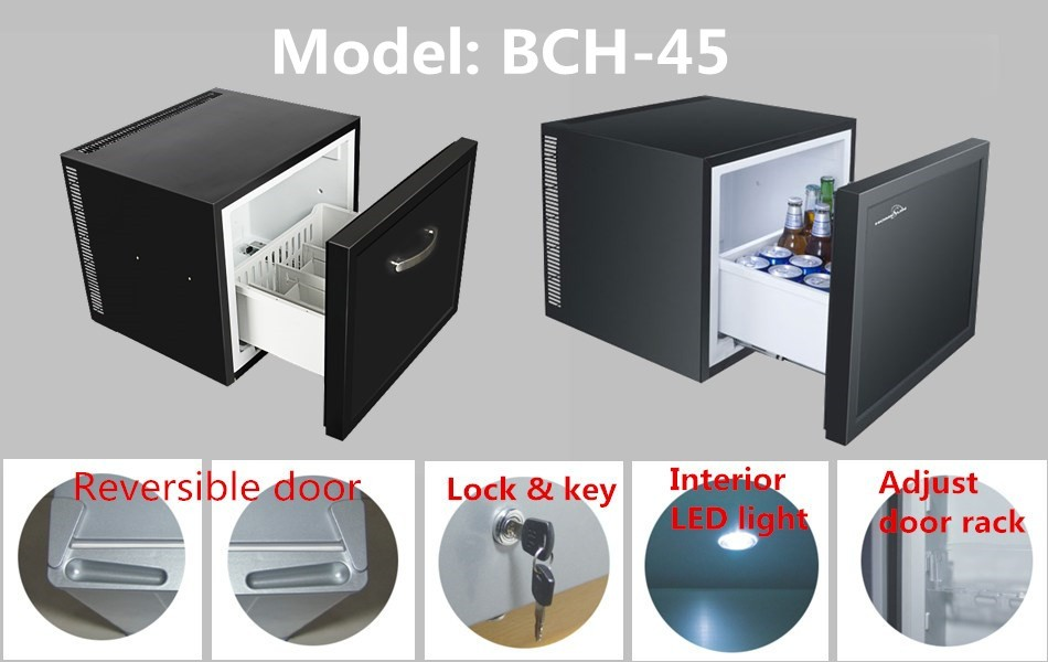 BCH-45B Ajustable Thermostat Drawer Minibar Refrigerator, Mini Fridge With CB Approval
