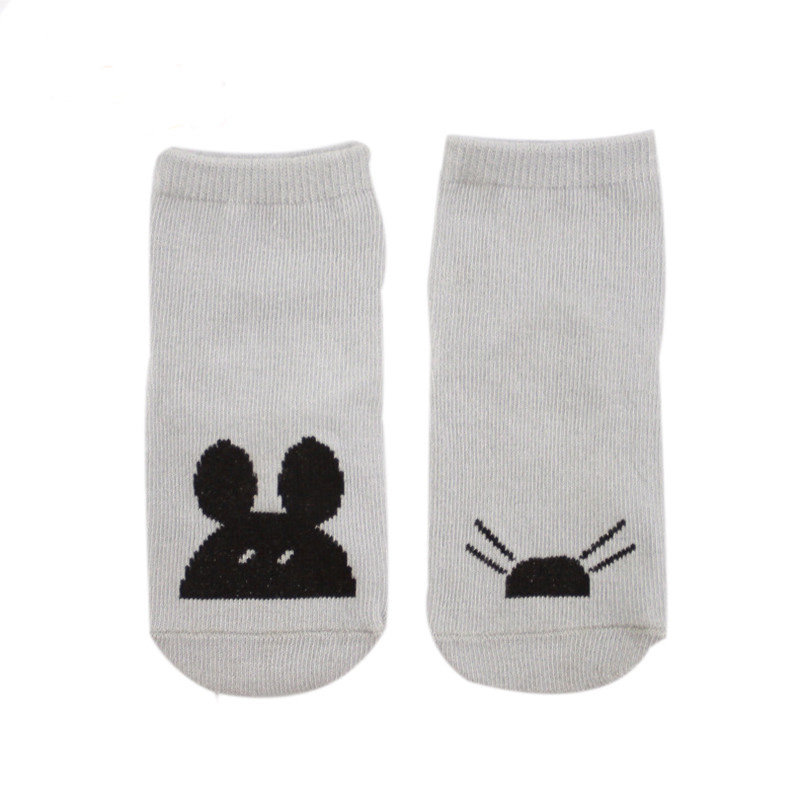 1pairs High Quality Kids Cute Pattern Floor Socks Children Ankle Socks Multicolor Cotton Glue Dot Slip