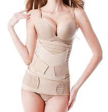 3 In 1 หลังคลอด Recovery Belly Wrap Girdle Support เข็มขัด Body Shaper