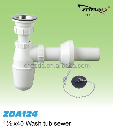 sink bottle Plumbing siphon/drainer pipe with strainer /bottle trap