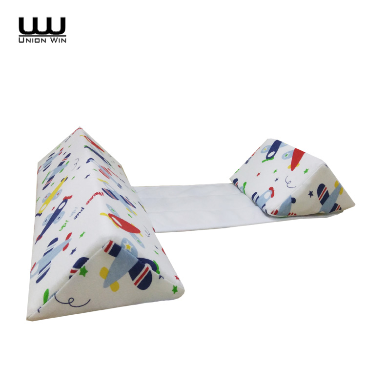 Memory Foam Wedge Baby Support Pillow With Printed Cotton Fabric Cover