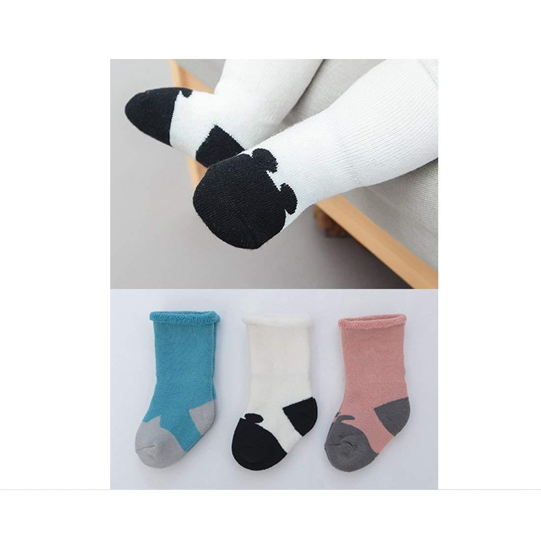 Fun /& Cute baby socks Soft Cotton Fabric 3 Pairs Delicate Workmanship