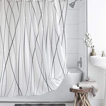 Uvan Black Stripe Waterproof Shower
