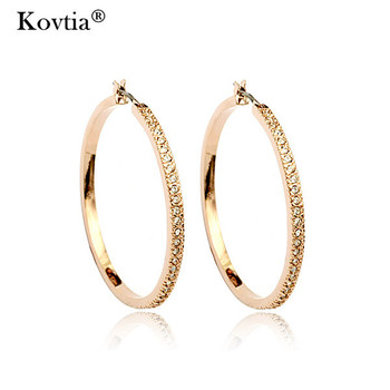 Women Indian Kundan Jewellery Gold Diamond Hoop Earrings