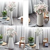 Bottle Shape Cheap Reactive Glaze Ceramic Porcelain Flower Vase color white