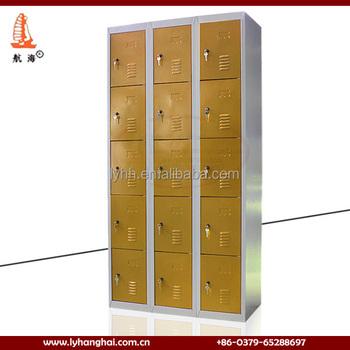 Canada Style Lockers Big Storage Space 15 Door Metal Foot Lockers