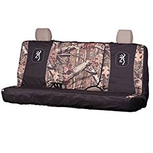 Browning Full Size Camo Bench Seat Cover (Mossy Oak Infinity Camo, Pink Trim and Logo, Durable Polyester Fabric, Includes One Seat Cover, Sold Individually)