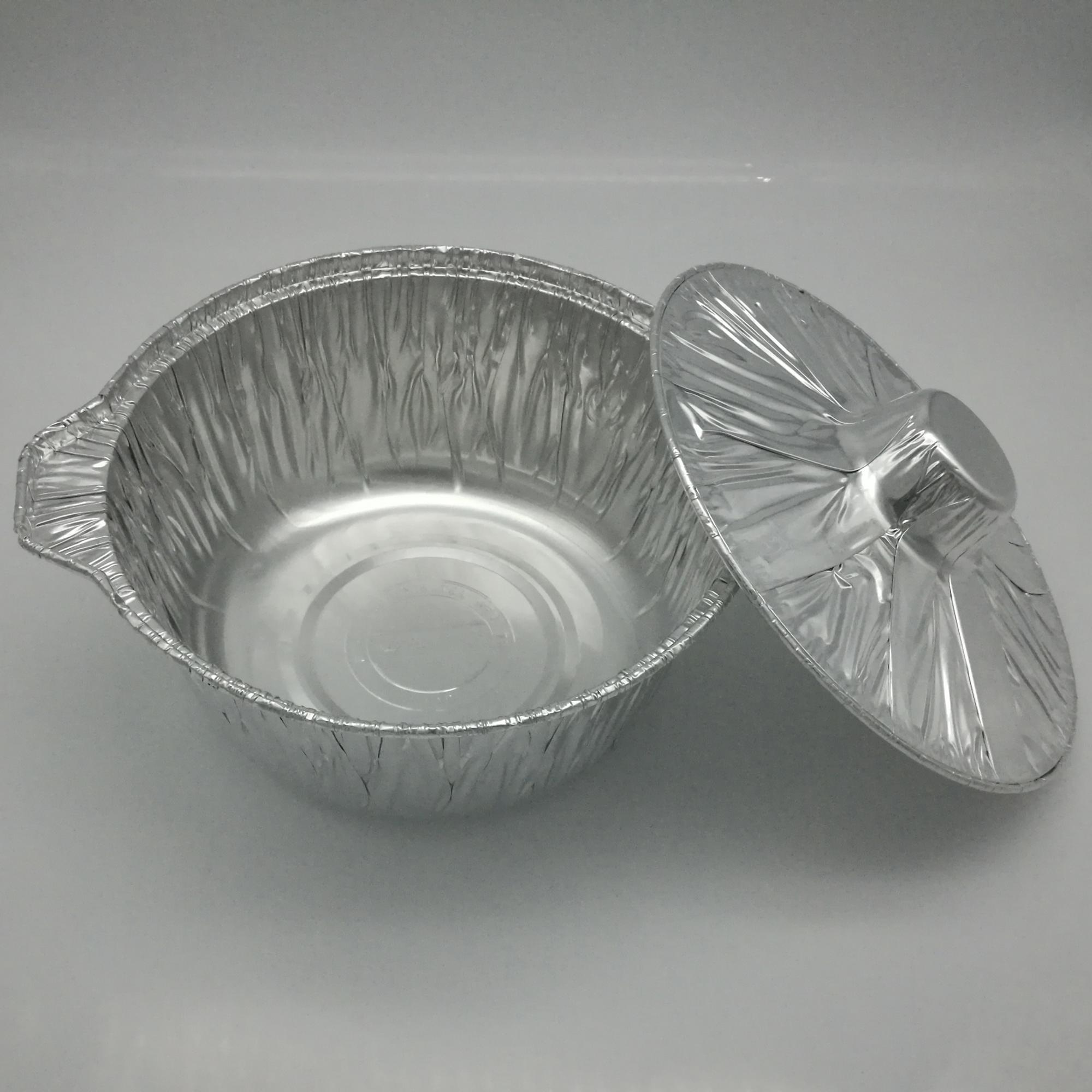 High Quality Deep Aluminium Foil Pot Food Grade Foil