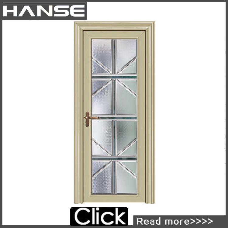 HS-8042 metal flush interior frosted glass bathroom door price