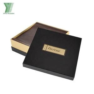 Fancy Brown Paper Cheap Wholesale Lid And Base With Plastic Insert For Chocolate Gift Box