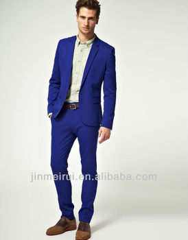 Designer Groom Suit Skinny Fit Suit Trousers In Polywool Men Suits ...