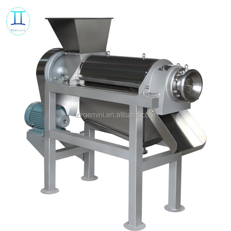 0.5-2.5t/h industrial spiral fruit juice extractor machine / fruit juicer press