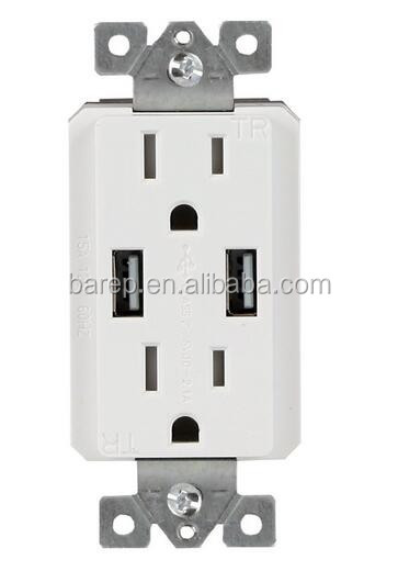 BAS15-2USB Flexible prices household wall home electric socket