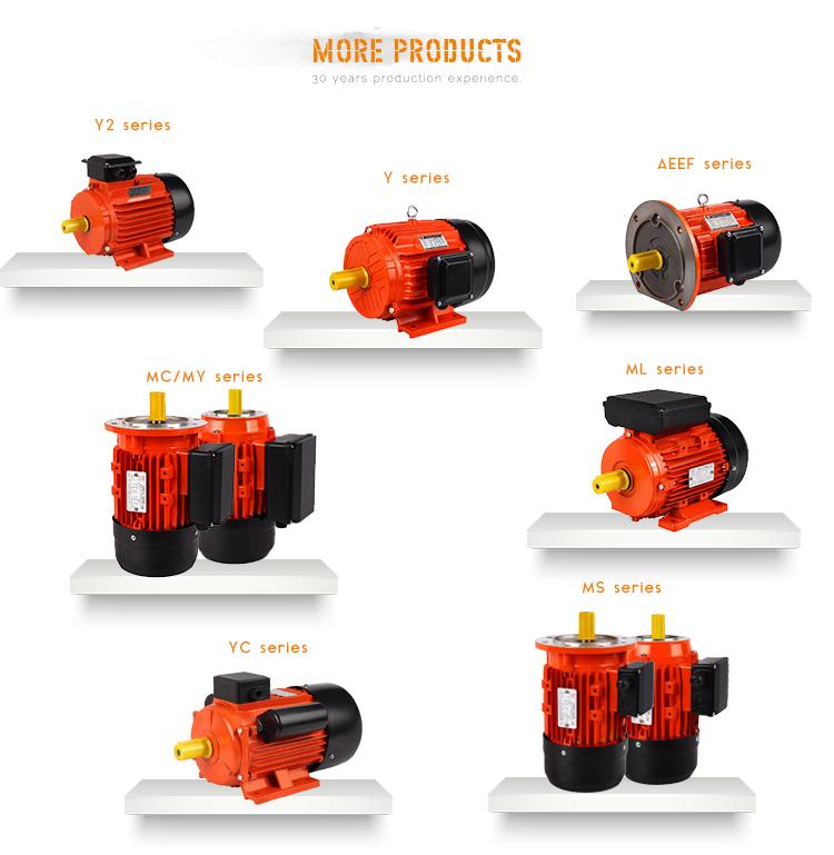 YC series 1.5kw 2hp 220 볼트 단 상 ac electric motor