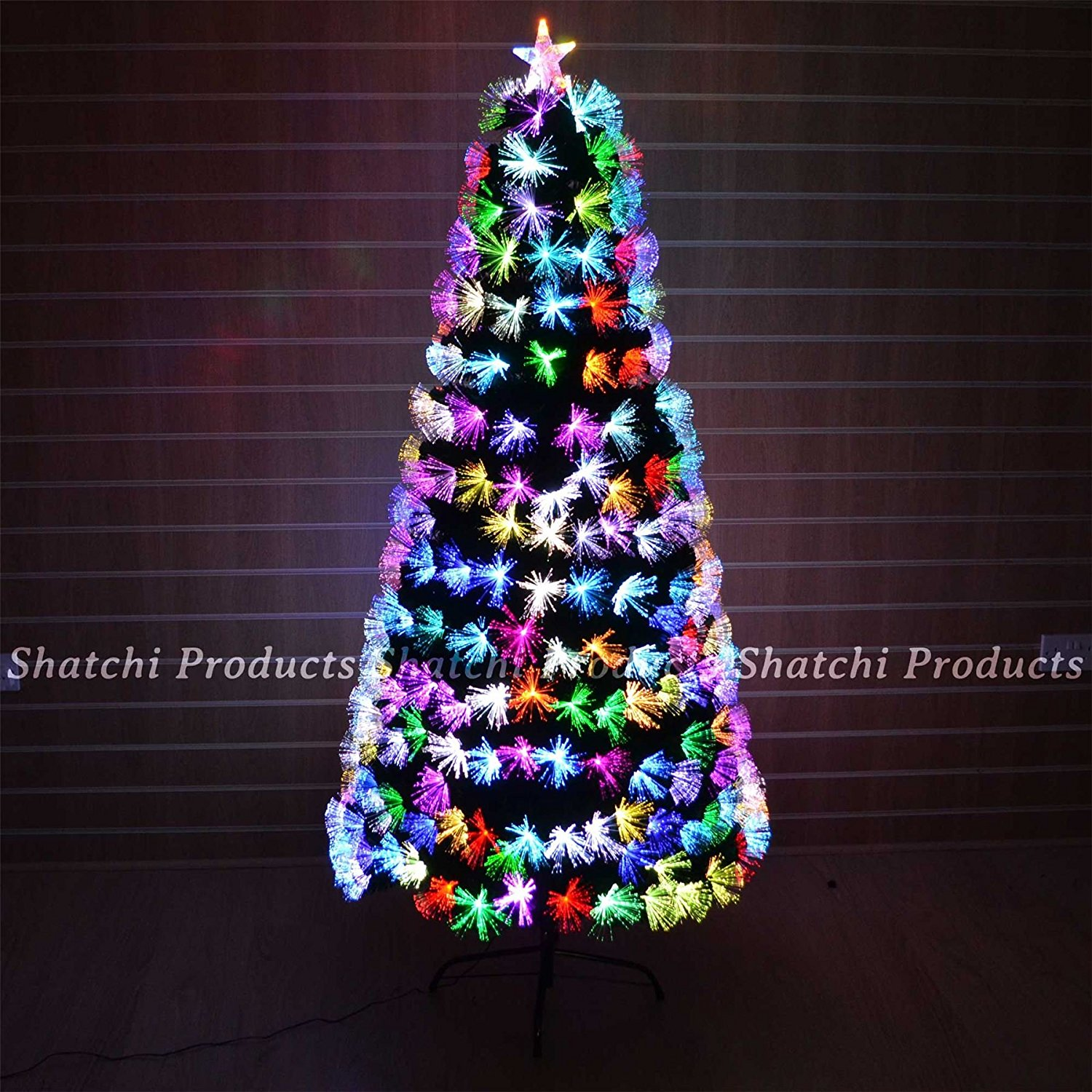 get quotations 6ft 180cm fibre optic christmas tree multi colour changing with various effects xmas decoration