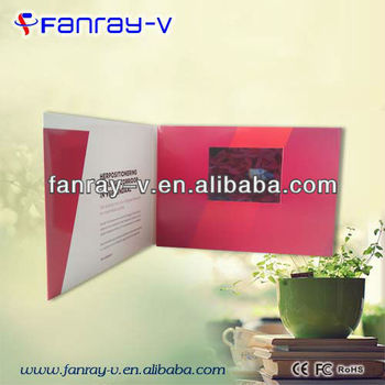 4.3inches electronic wedding invitation card with 1G memory