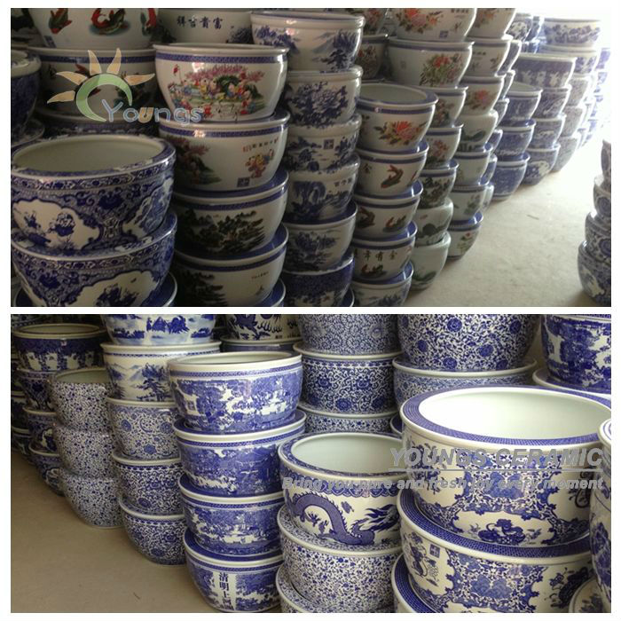 Beautiful Large Chinese Blue White Ceramic Garden Fl Pots For Outdoor