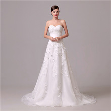 WTS48 2017 Vestidos de Novia A Line Vintage Wedding Dress Hot Sale Wedding Gowns Robe de Mariage Gelinlik
