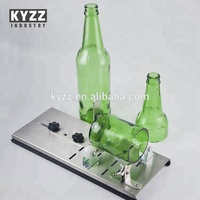 Metal Cylindrical Beer Bottle Jar glass cutter Kit Tool with sturdy Base for Home Decor DIY