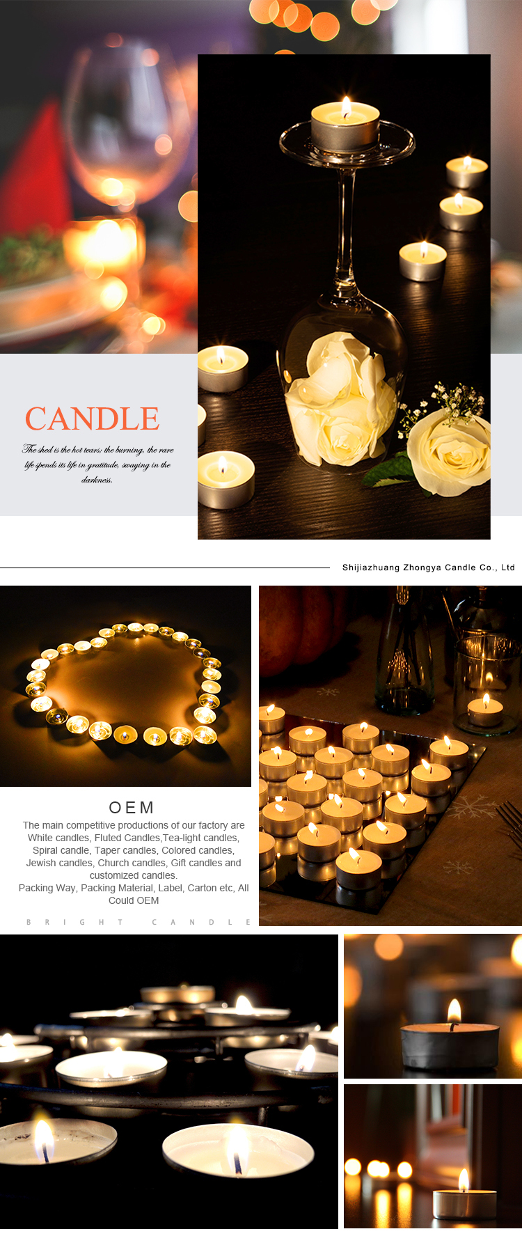 Hot Sale Paraffin Wax Long Burning No Scented Colour Tealight Candles stock