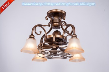 New Style 360 Degree Oscillating Ceiling Fan With Led