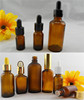 Sale cosmetic dark brown bottles glass dropper bottle for cosmetic packaging, serum, essential oil, etc