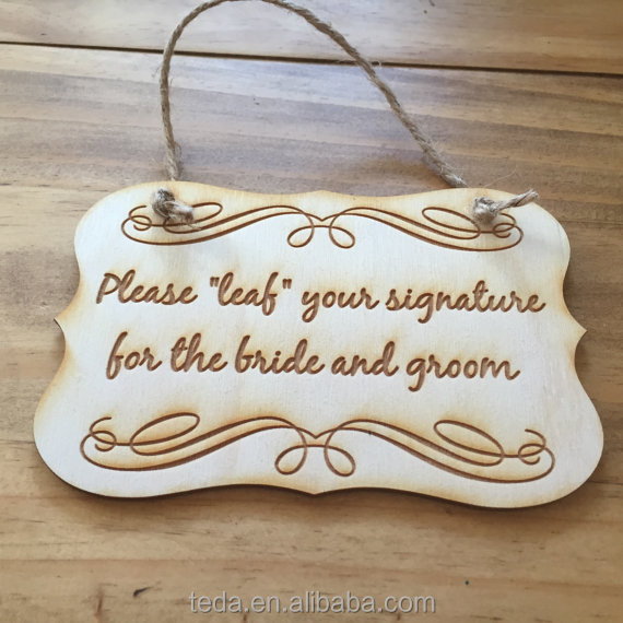 Engraved Wooden Wedding Guestbook Sign Rustic Chic Wedding Sign