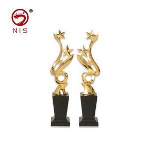 Unique design cricket trophies plaque wholesale goalkeeper trophies 3d metal trophy cups