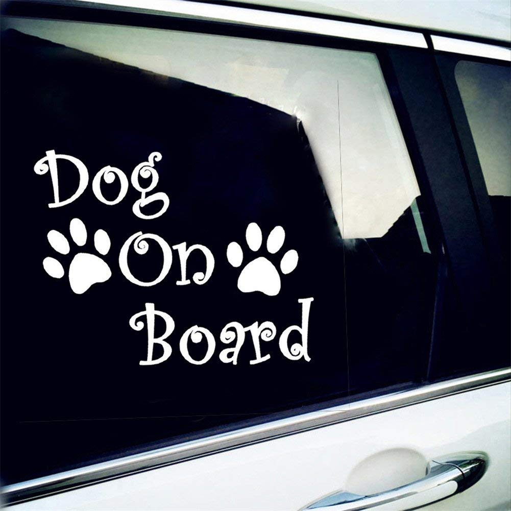 Get quotations · vylymuses car stickers and decals dog on board car styling waterproof reflective stickers car door body