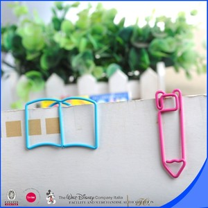 Very cute pencil and book shaped paper clip