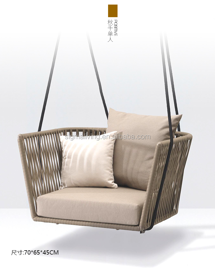 New arrival leisure way hotel patio outdoor garden rope outdoor dinning chairs