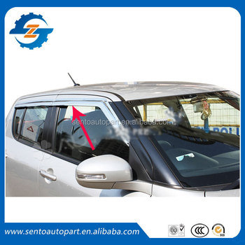 Plating Window Visor/vent Shade/rain Sun Wind Deflector Fit For ...
