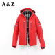 2018 red color fashion warm ski jacket women in winter