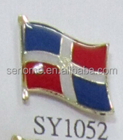 Custom Made Dominican Republic Flag Badge Vendor
