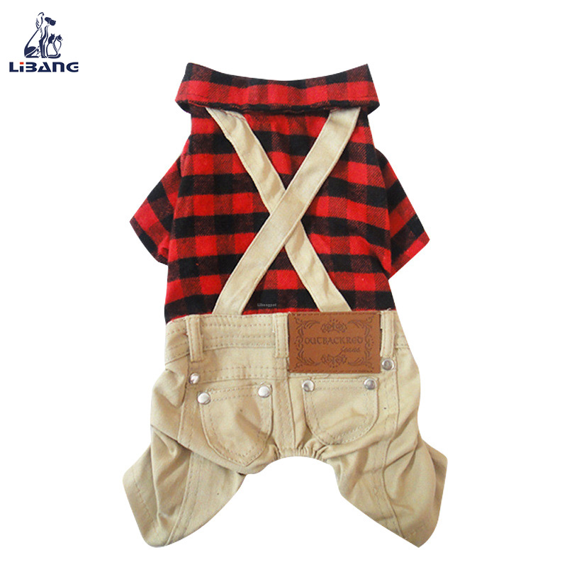 Pet Suspender Trousers Cute Dog Jumpsuit Outfits