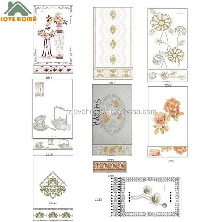 CERAMIC WALL TILE MOTIVE AND BORDER TILE