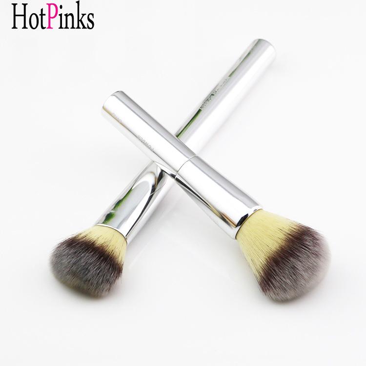 Hot Sale Gujhui Silver Cosmetic Flat Foundation Face Blush Kabuki Powder Contour Makeup Brush Tool Hottest Makeup