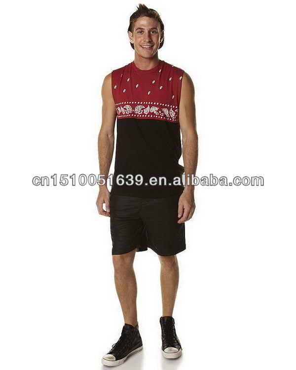 Clothing brand labels men beach shorts with mesh