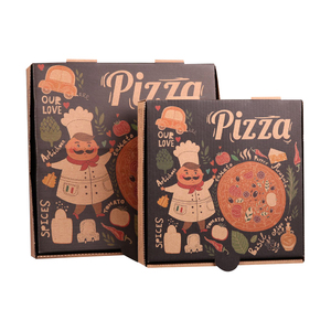 Custom size box for pizza,Elegant paper pizza boxes,High quality box for pizza