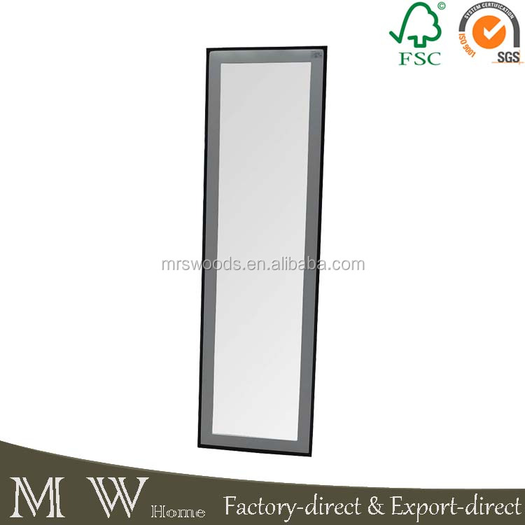 metal iron and wood dressing decorative floor standing mirror