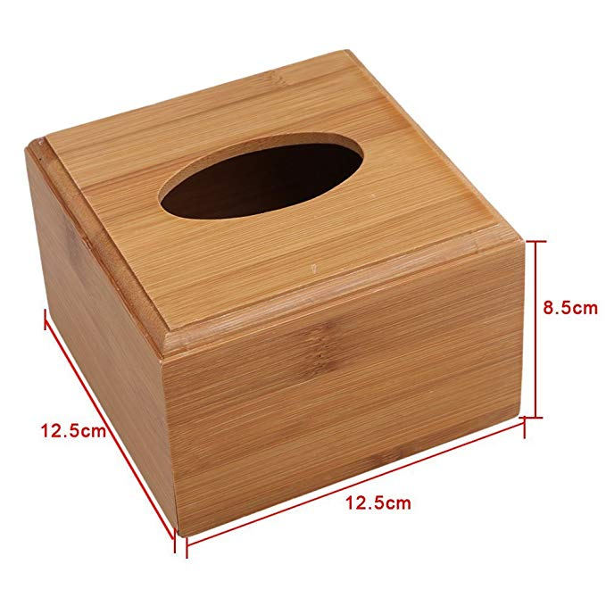 Wholesale Bamboo Wooden Tissue Holder Box 3