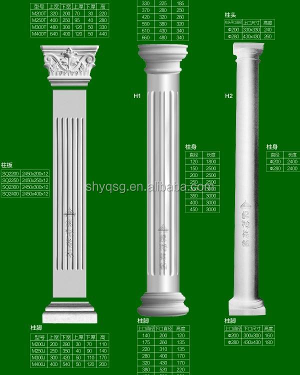 Gypsum grg moulding interior door surround decoration urn for Window design cement