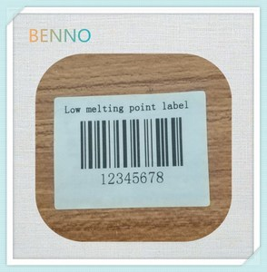 low melting point adhesive labels