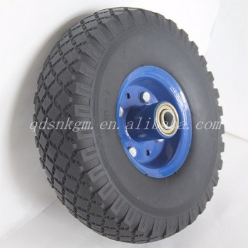 Hot Sell Top Quality PU Solid Trolley Barrow Wheel