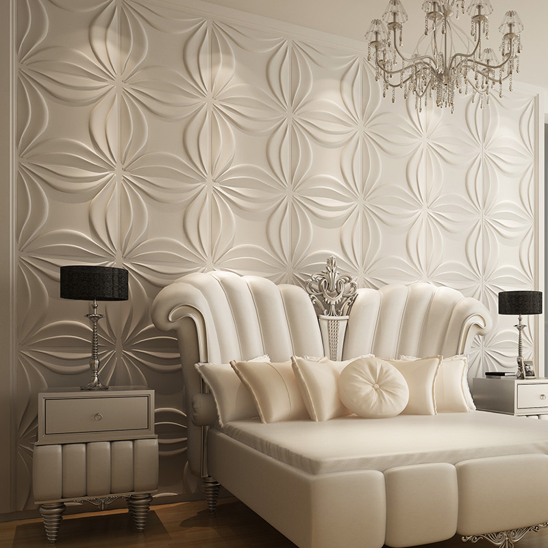 Painting Supplies & Wall Treatments Custom-carved Roses 3d Stereoscopic Television Background 3d Wallpaper 3d Wallpaper Living Room Sofa Bedroom Mural Save 50-70%
